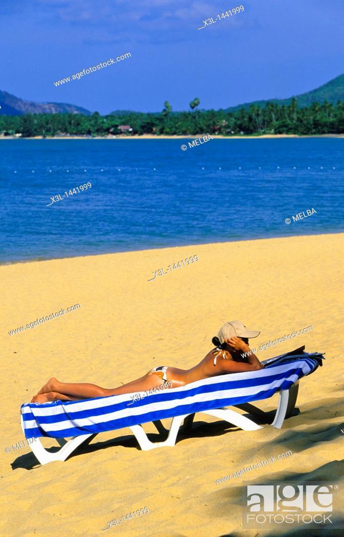 Stock Photo: Mac Nam Beach  Ko Samui  Shurat Thani  Thailand.