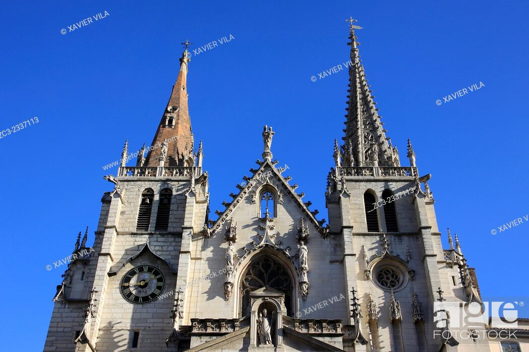 Stock Photo: The Church of St. Nizier is one of the churches of Lyon, in the heart of la Presqu'île, between place des Terreaux and la Place des Jacobins, Lyon, Rhone.