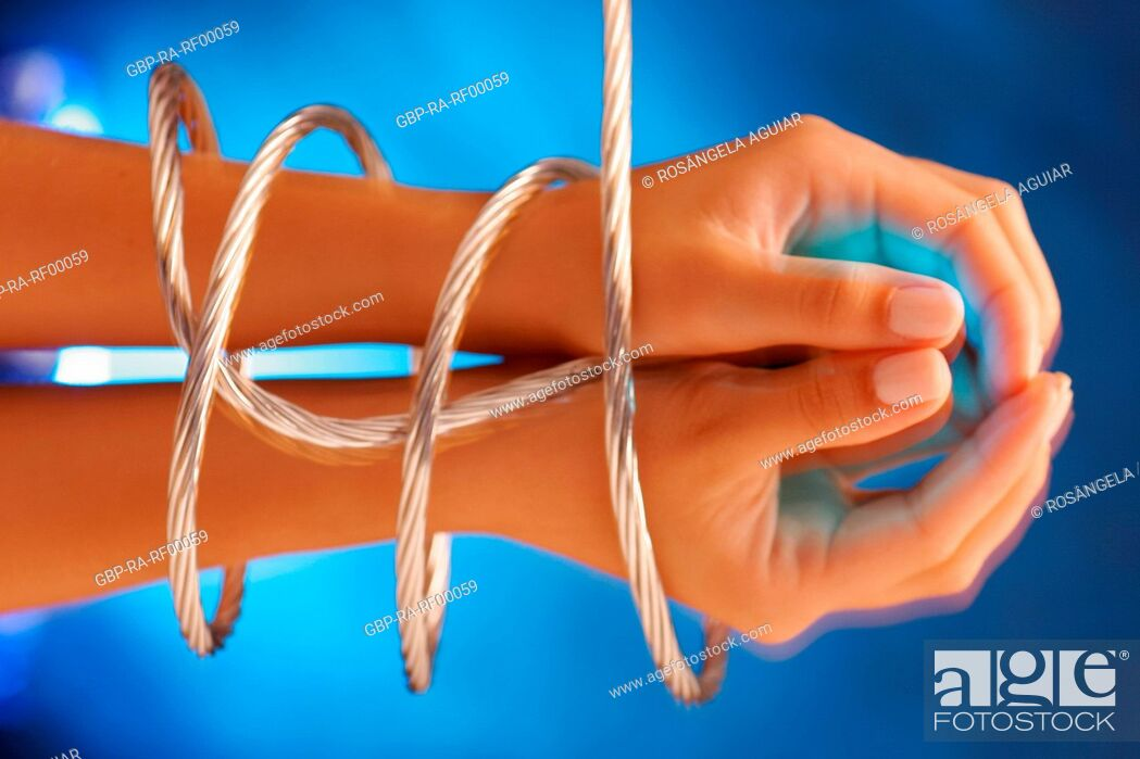 Stock Photo: Hands tied, female, Belém, Pará, Brazil.