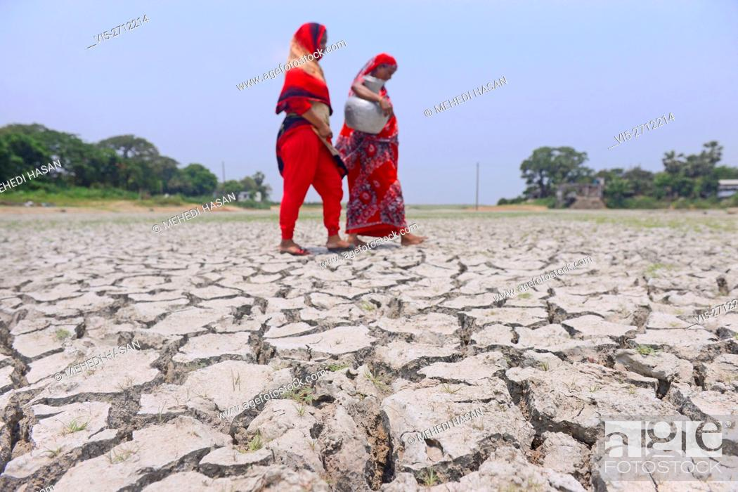 Stock Photo: Soil, water and the environment become polluted by industrial wastes. In Bangladesh climate change is a serious problem, where it tops among the 32 countries at.