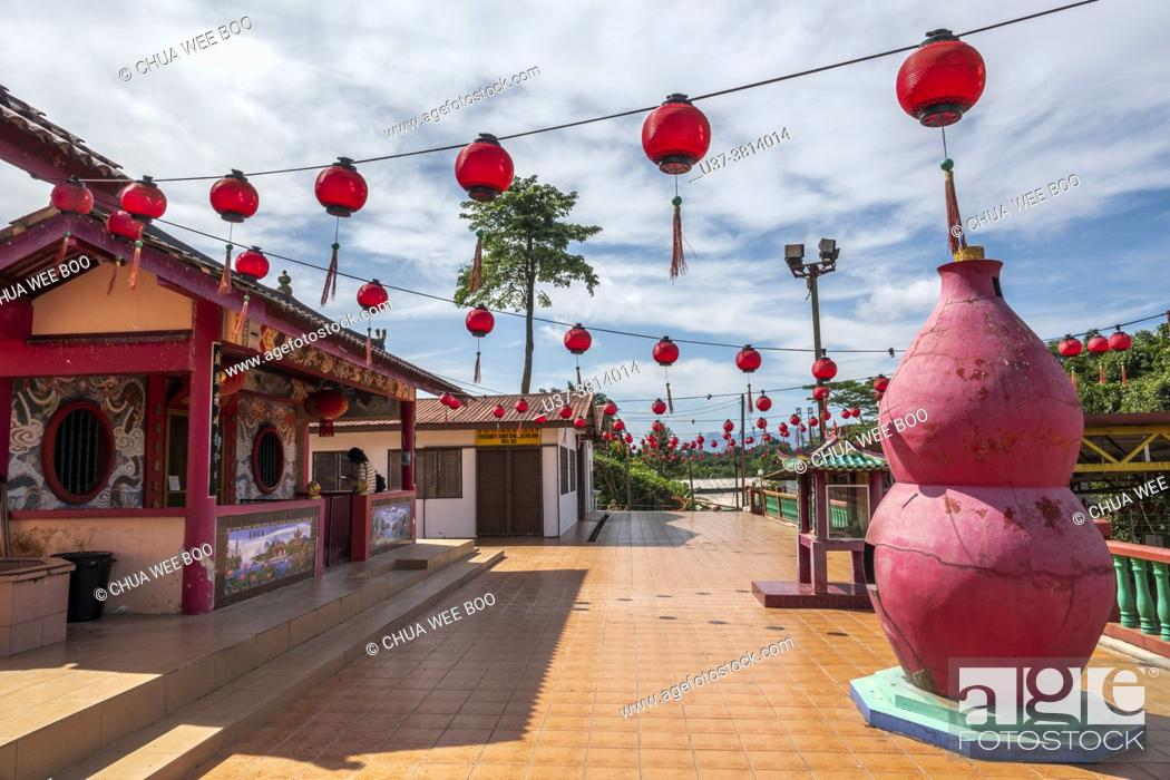 Stock Photo: Chinese temple, Kampung Musi, Bau, Sarawak, East Malaysia.