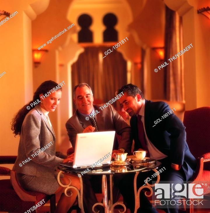 Stock Photo: Meeting of businesspeople.