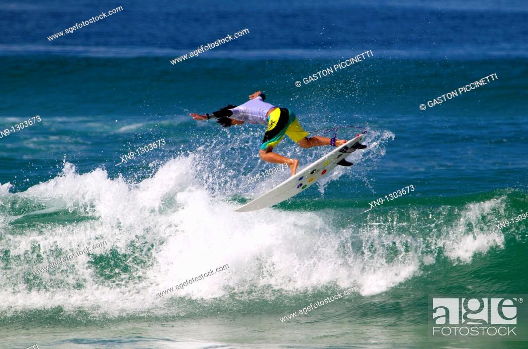 Stock Photo: Surfer in Hossegor, Quiksilver Pro France, South West Coast, France.