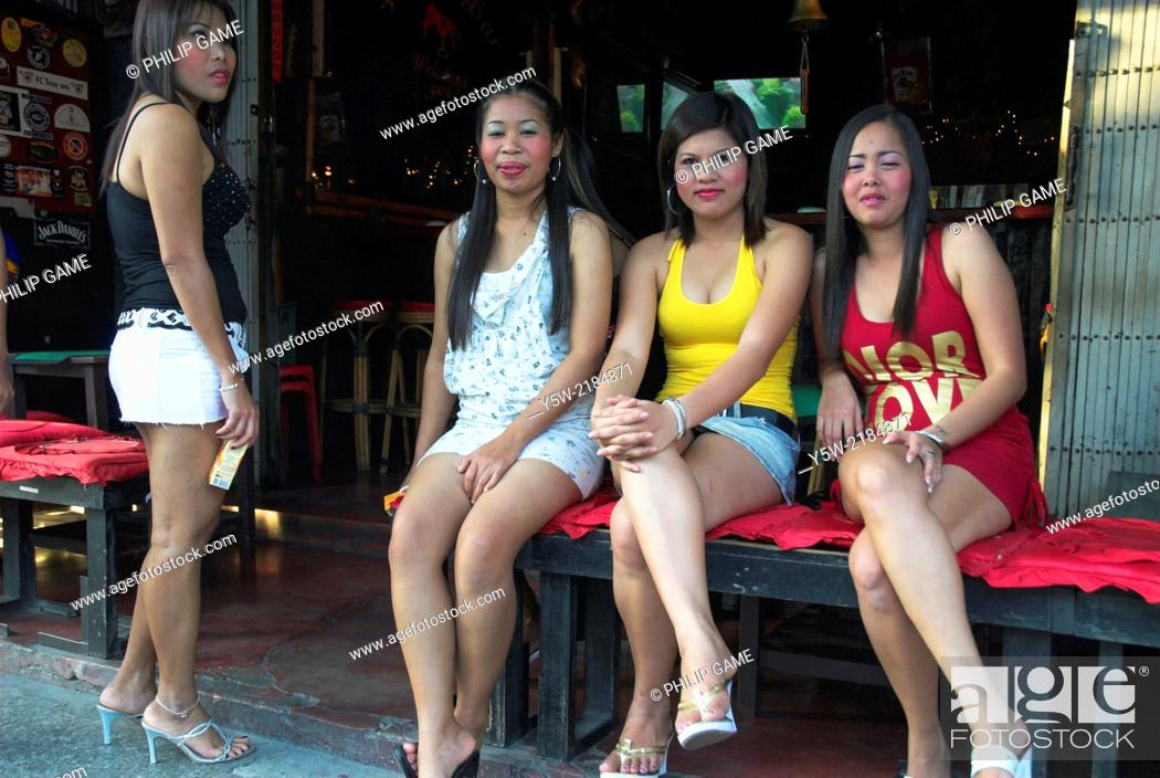 Stock Photo: Bar hostesses, Chiang Mai, Thailand.