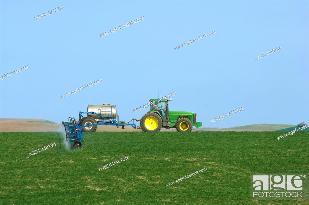 Agriculture - Ground application of herbicide for weed