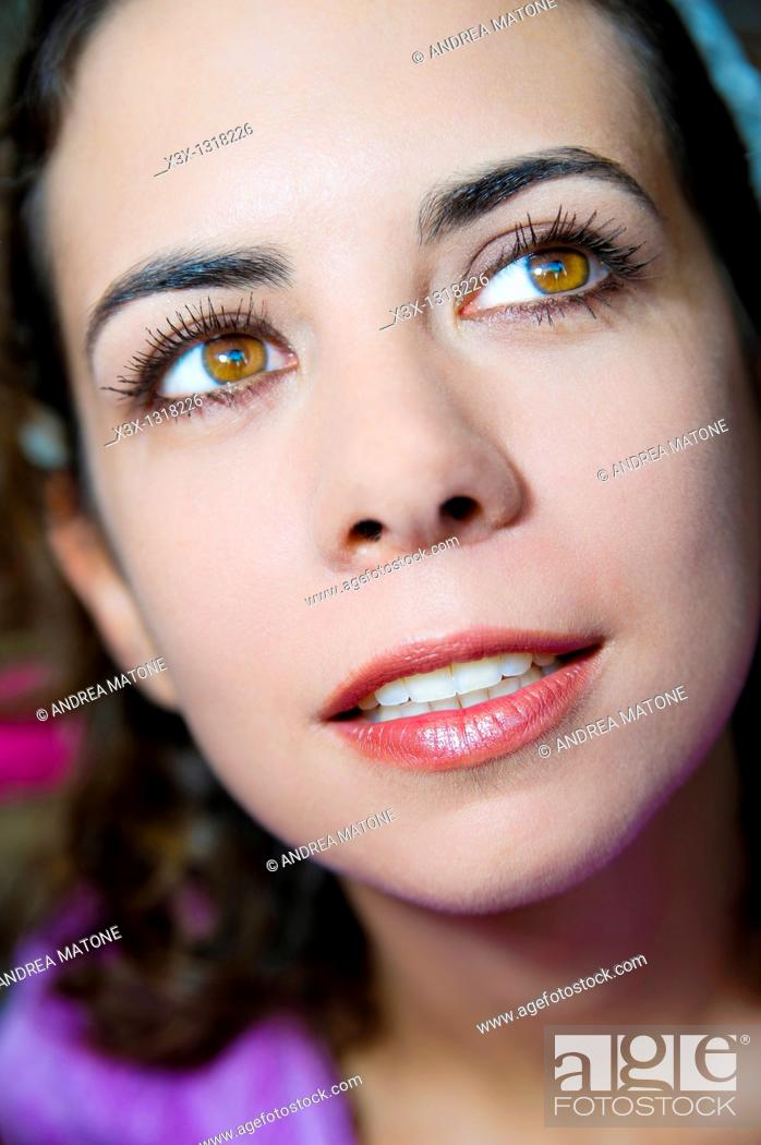 Stock Photo: Woman after make up session.