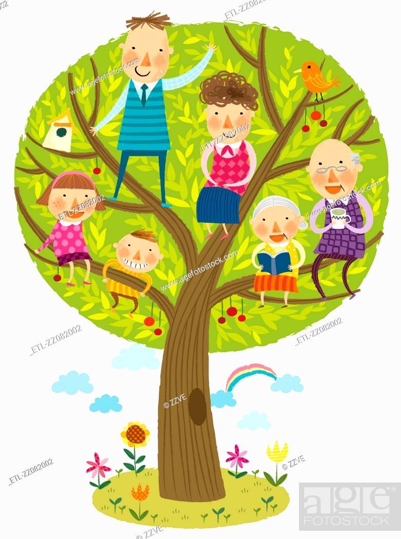 Stock Photo: family tree.