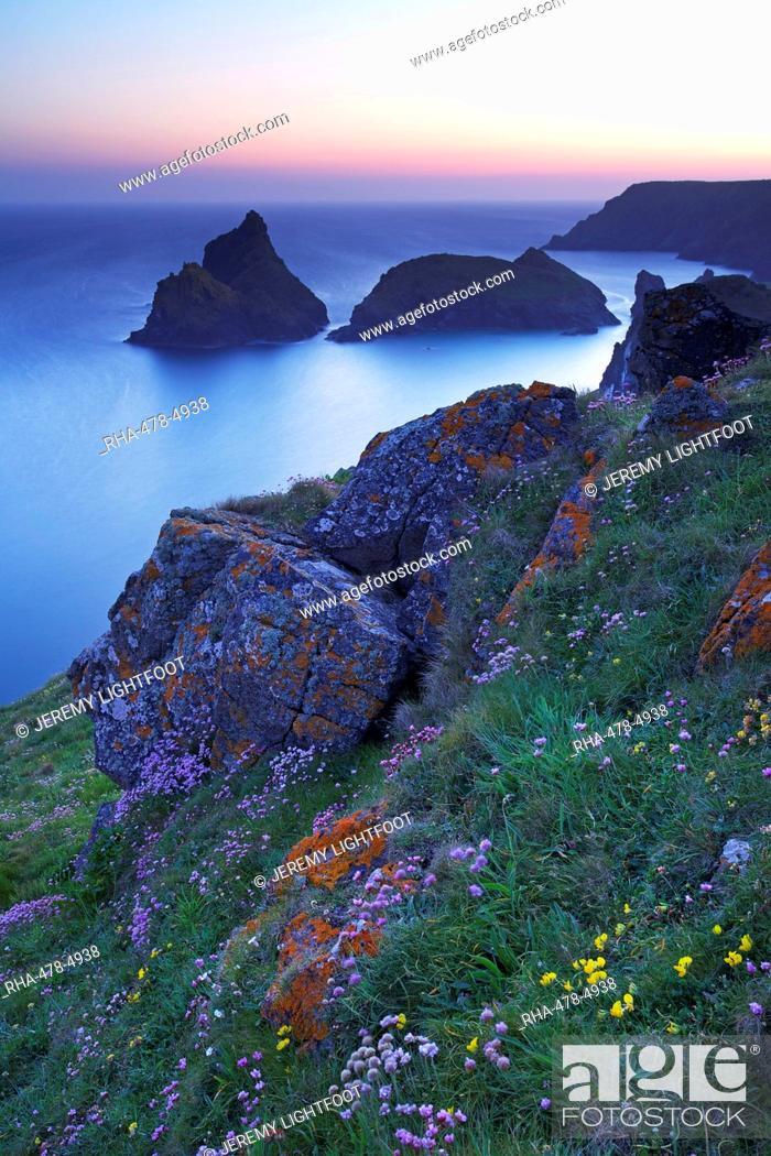 Stock Photo: Kynance Cove, The Lizard, Cornwall, England, United Kingdom, Europe.