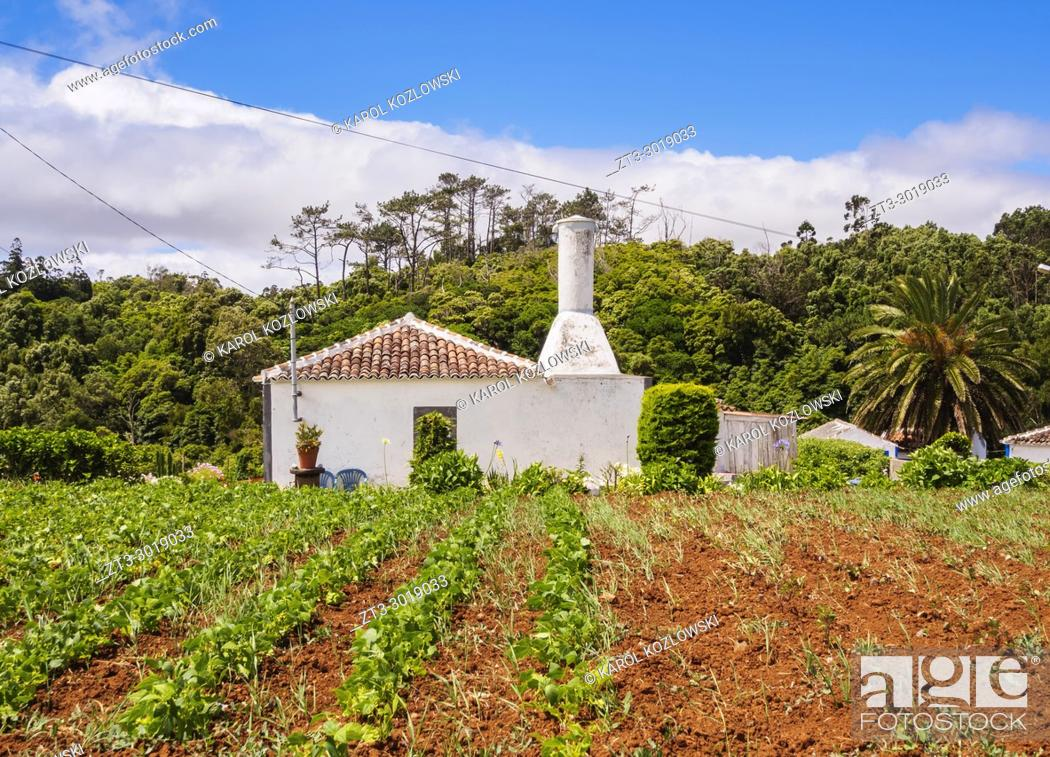 Stock Photo: Traditional House, Santa Maria Island, Azores, Portugal.