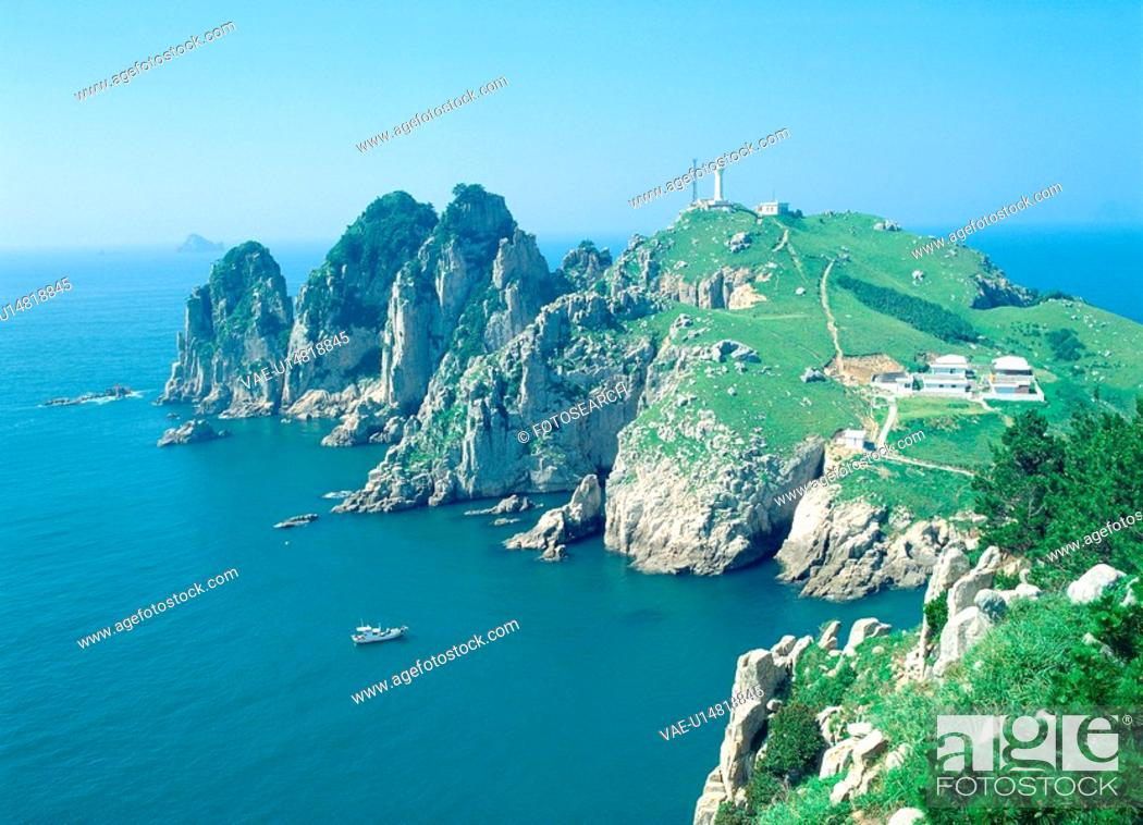 Stock Photo: nature, landscape, island, ocean, sea, scenery.