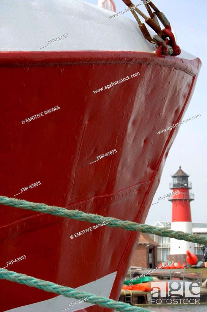 Stock Photo: Red ship.