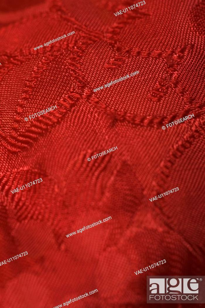 Stock Photo: Close-Up, Embossed, Detail, Clothing, Appearance.