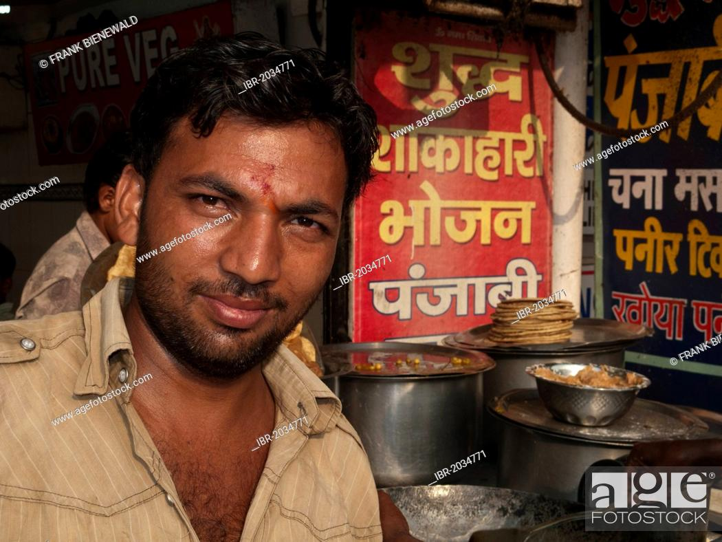 Stock Photo: Paratha, fried chapati bread, a common breakfast in the streets of New Delhi, India, Asia.