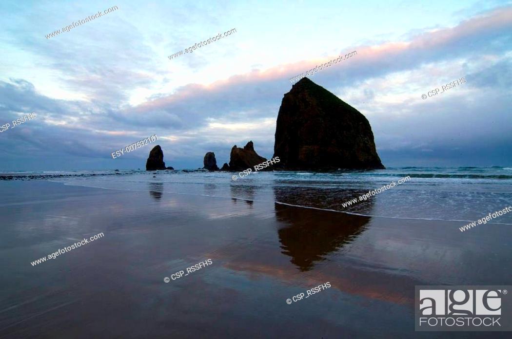 Stock Photo: Cannon Beach at Dawn.
