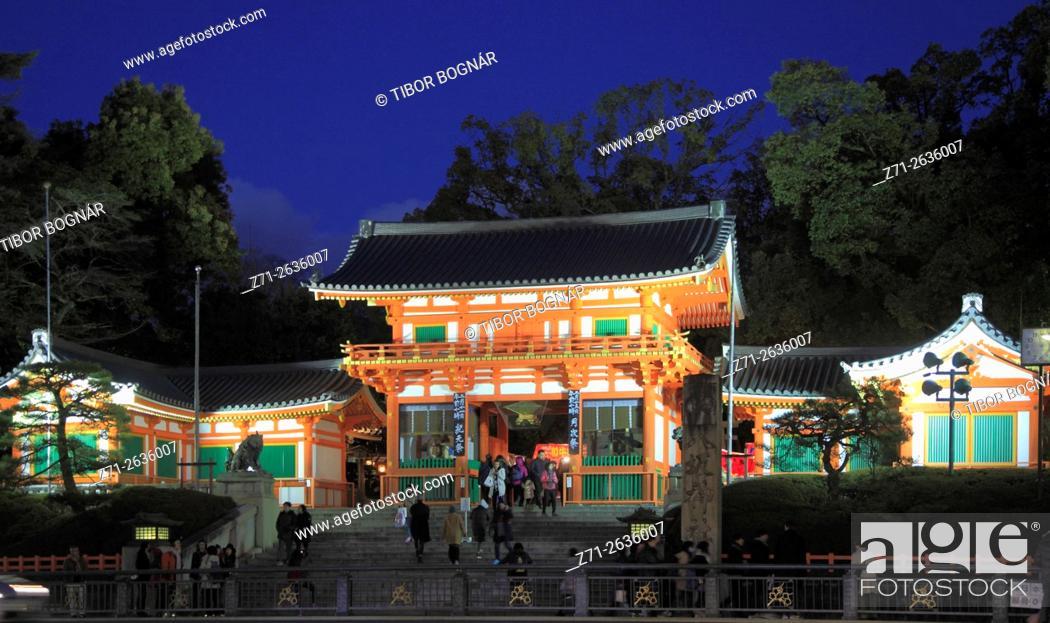 Imagen: Japan; Kyoto, Yasaka Shrine, gate, .