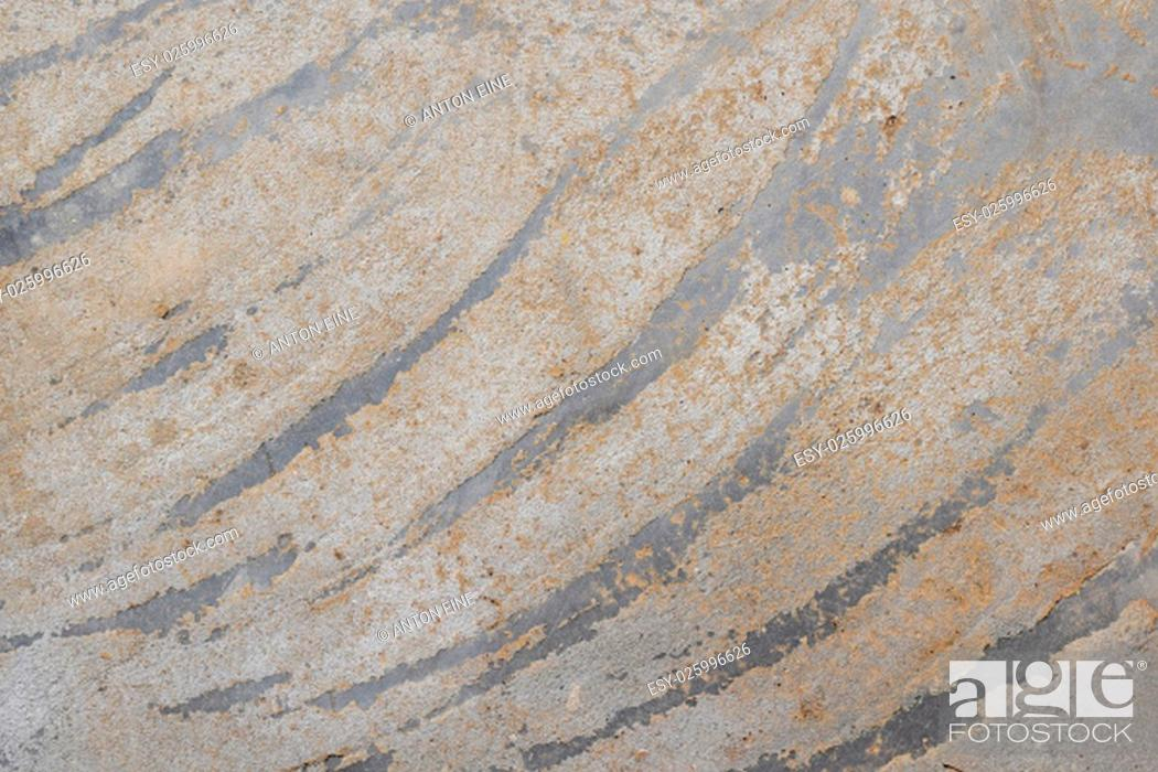 Stock Photo: Concrete wall or floor with dirty diagonal stripes strokes pattern on cement.