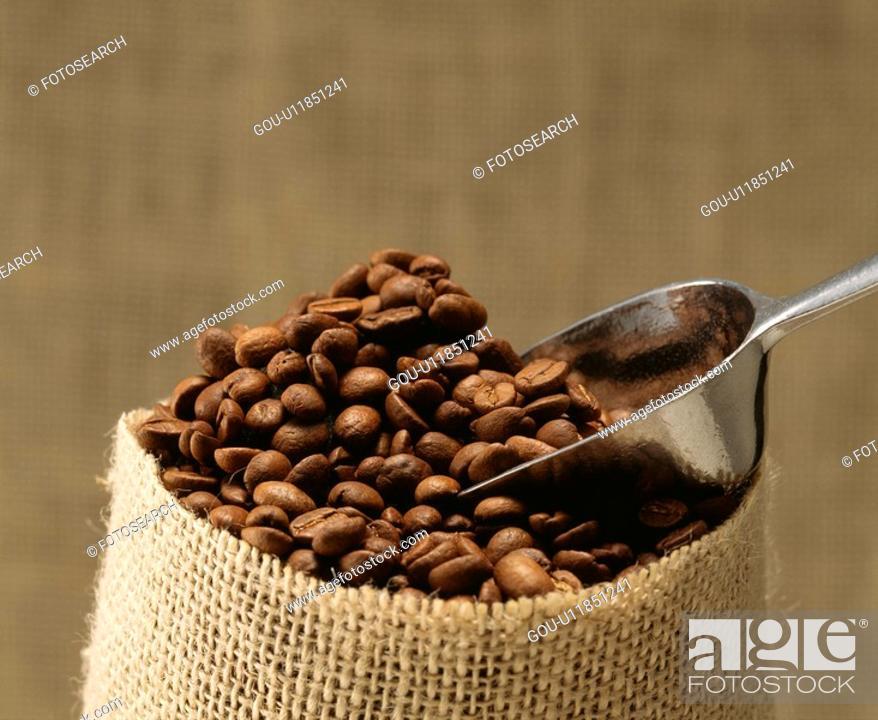 Stock Photo: Coffee bean.