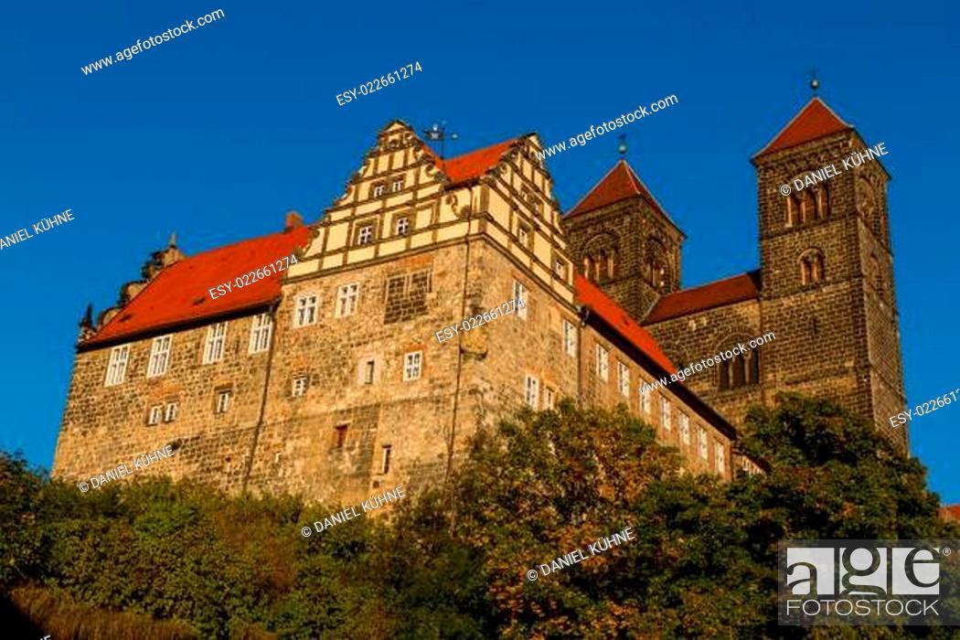 Stock Photo: Blick auf die Stiftskirche Quedlinburg.
