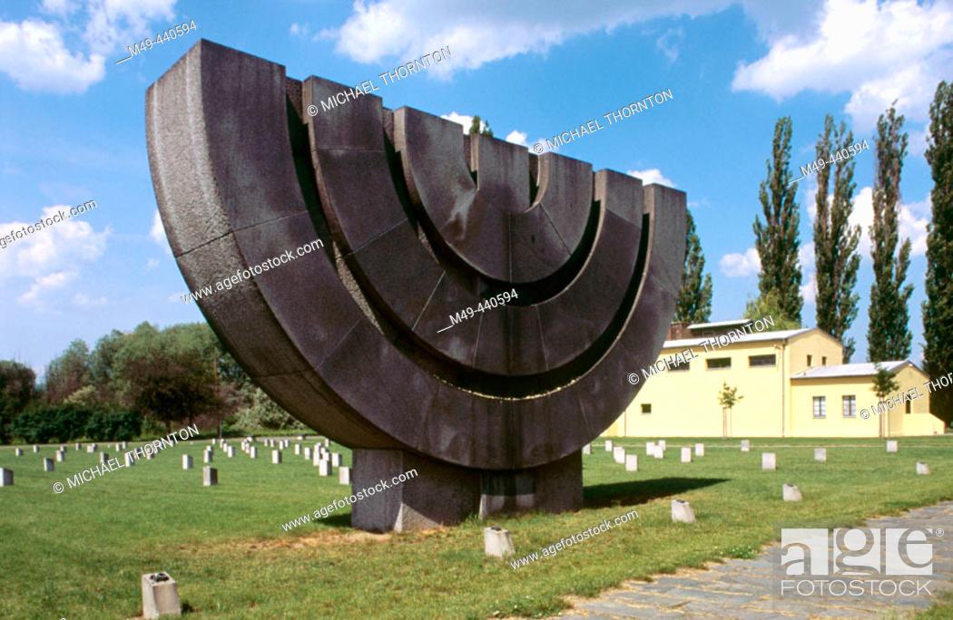 Stock Photo: Memorial crematorium. Terezín. Czech Republic.
