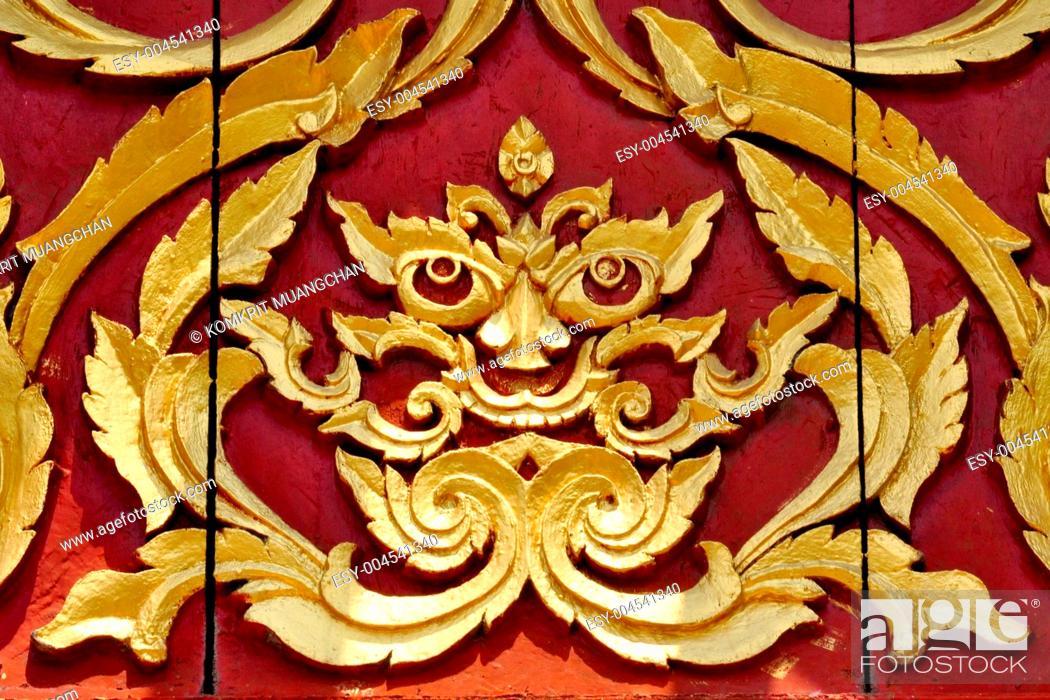 Imagen: Thai art in temple.