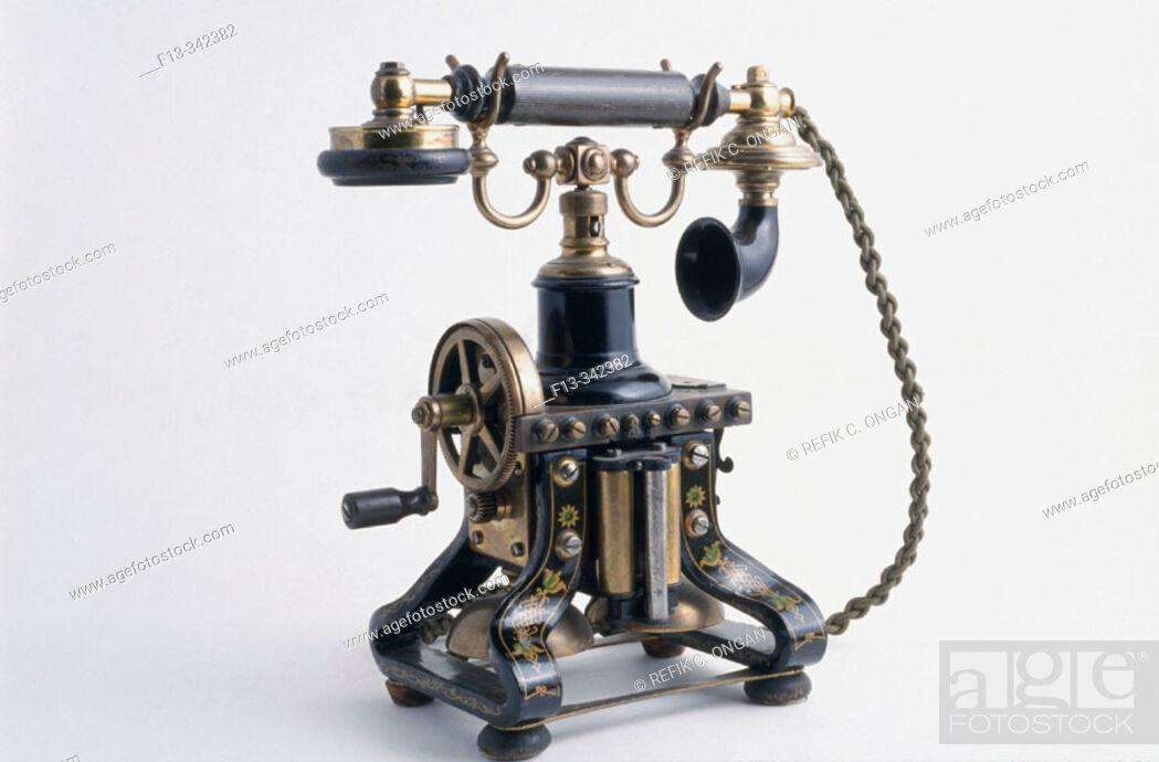 Stock Photo: Iron phone.