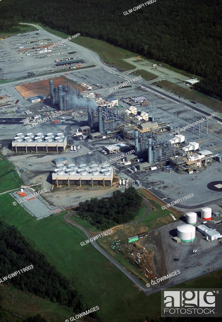 Stock Photo: Coal Fired Power Plant, Georgia, USA.