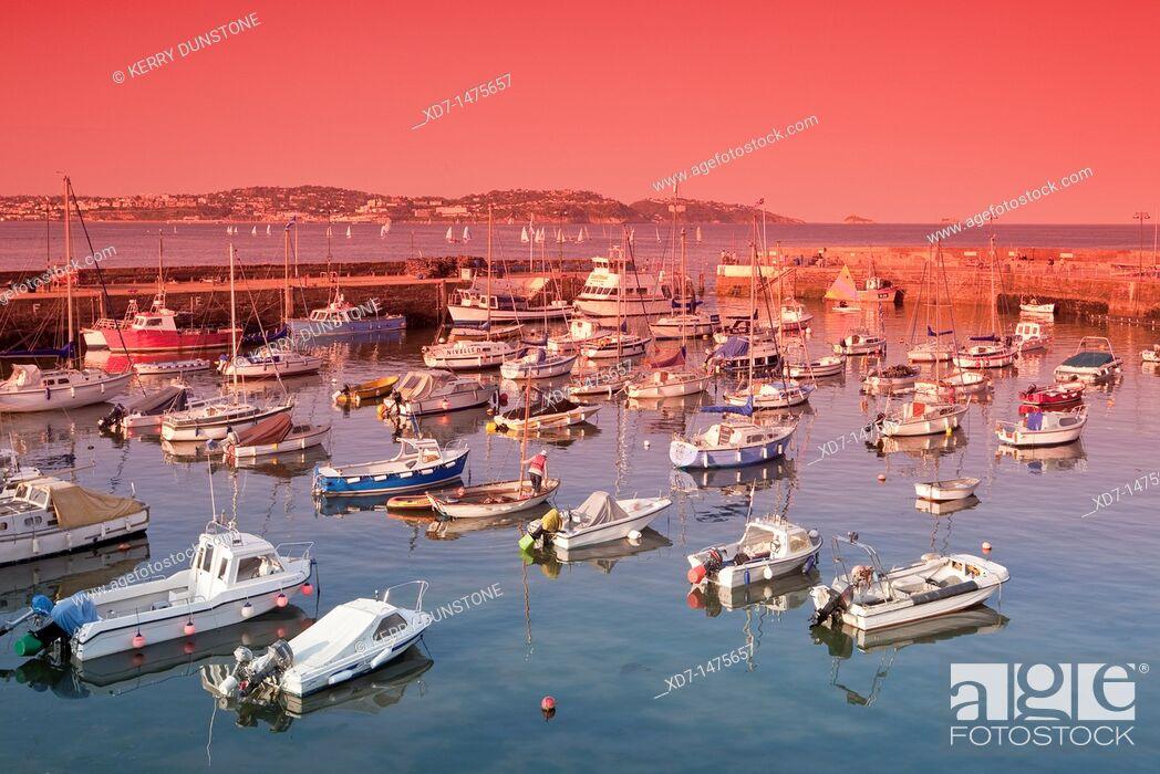 Stock Photo: England Devon Paignton Harbour.