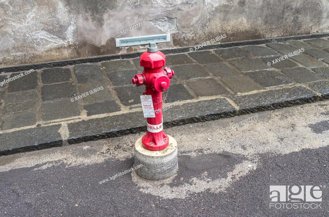 Stock Photo: Fire hydran, Catania, Sicily, Italy.