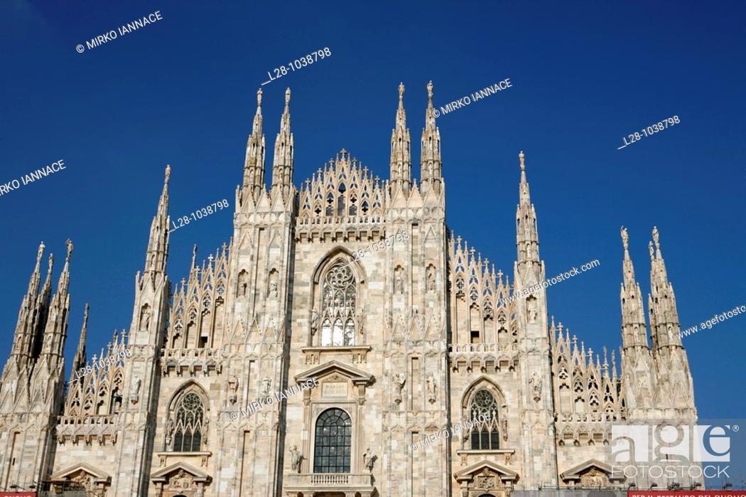 Stock Photo: Milan Duomo Italy.
