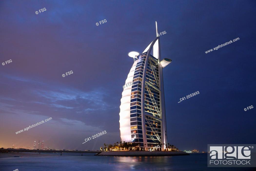 Stock Photo: Hotel Burj Al Arab. Dubai. UAE.