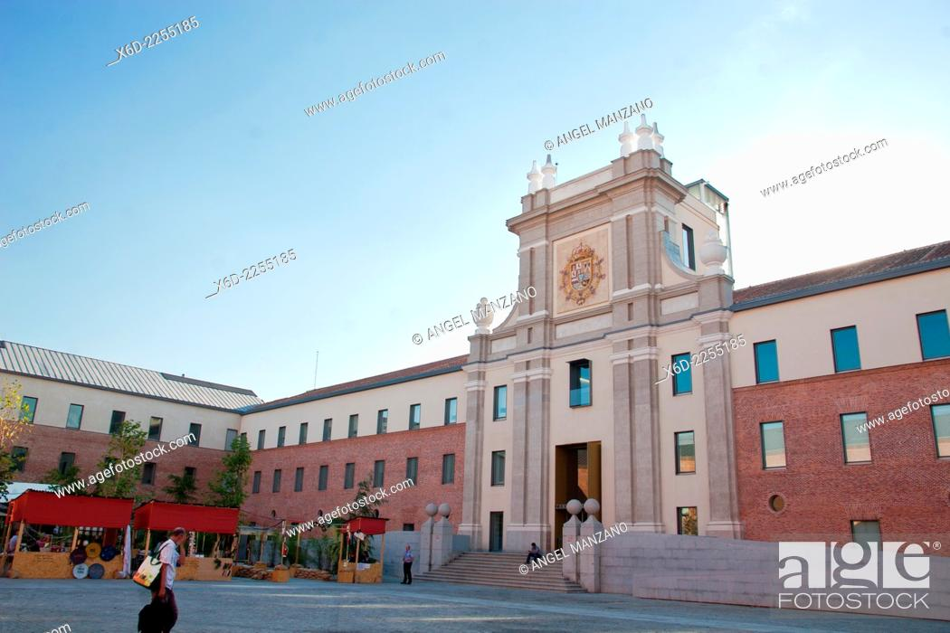 Stock Photo: Courtyard of Conde Duque cultural center, Madrid.