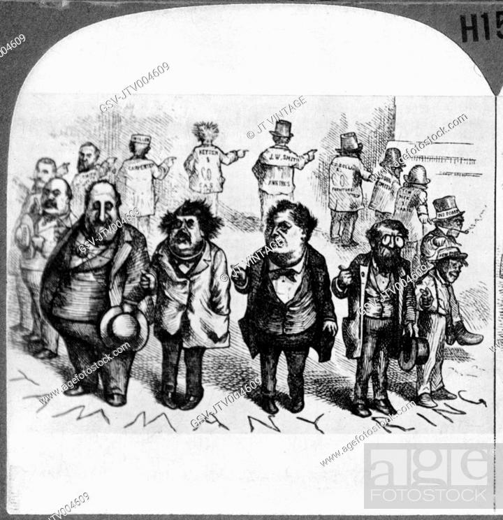 Thomas Nast Cartoon Of Boss Tweed And Tammany Ring Who