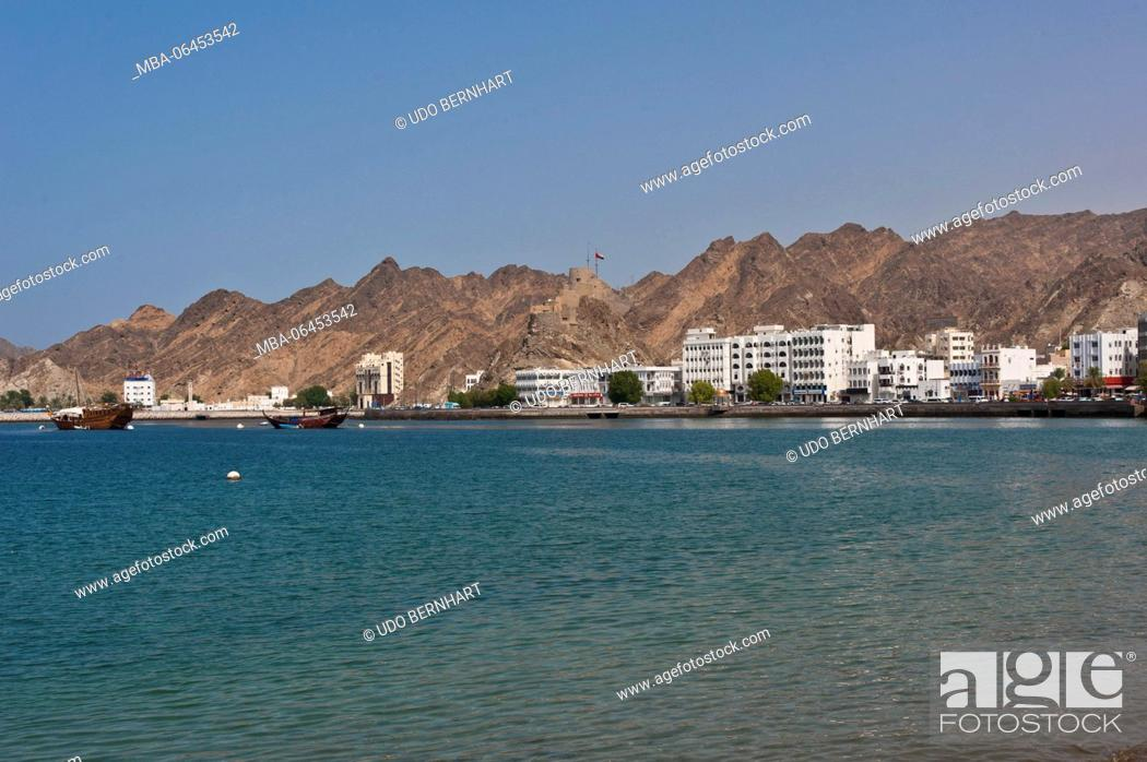 Stock Photo: Arabia, Arabian peninsula, Sultanate of Oman, Muscat, Muttrah, Corniche, Al-Bahri-Road.
