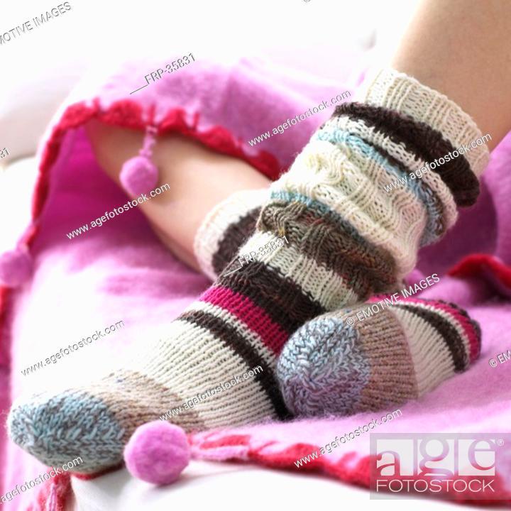 Stock Photo: wool socks.