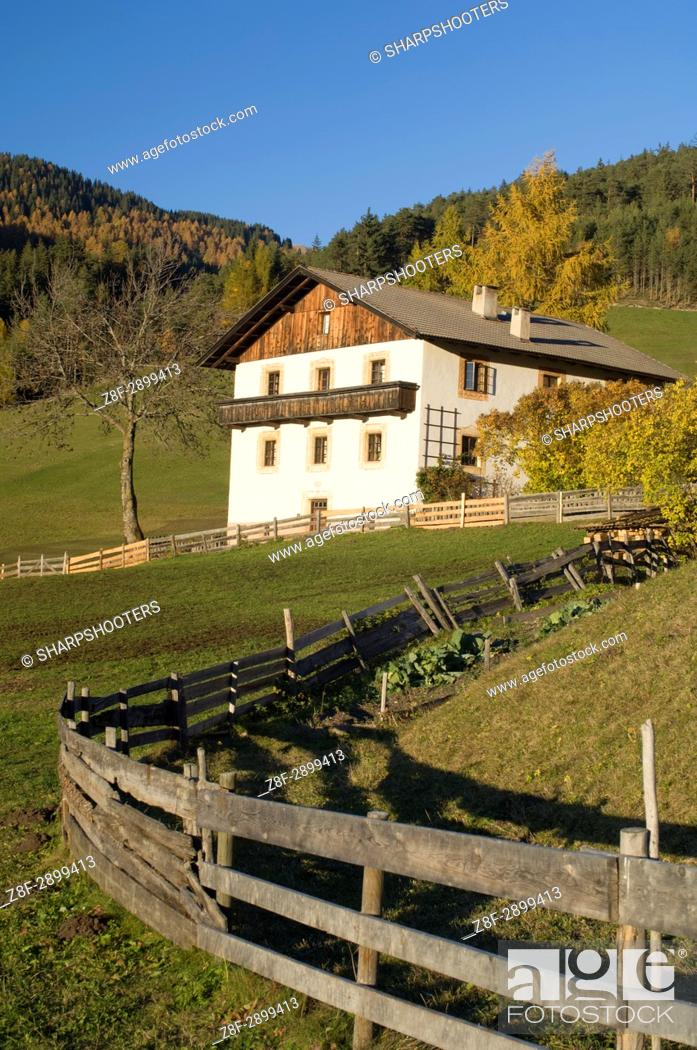Stock Photo: Italy, Trentino - Alto Adige, Bolzano province, Dolomites, Val di Funes, Santa Maddalena.