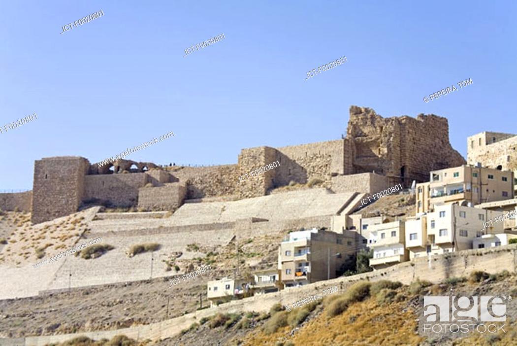 Stock Photo: Jordan, Kerak, castle built during the crusades.