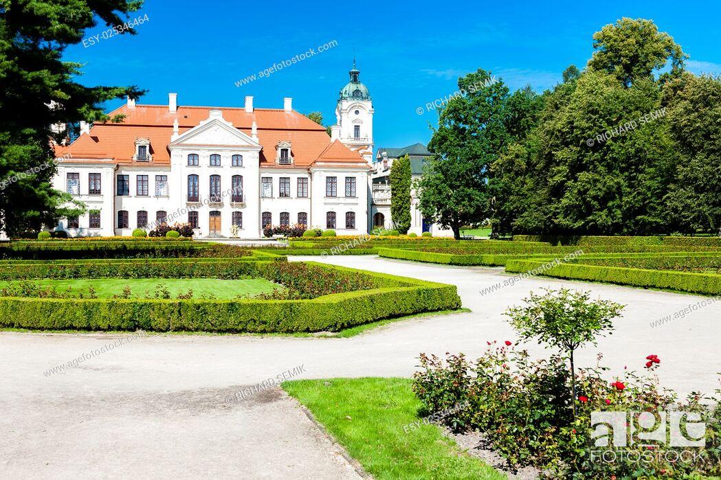 Stock Photo: Kozlowski Palace with garden, Lublin Voivodeship, Poland.