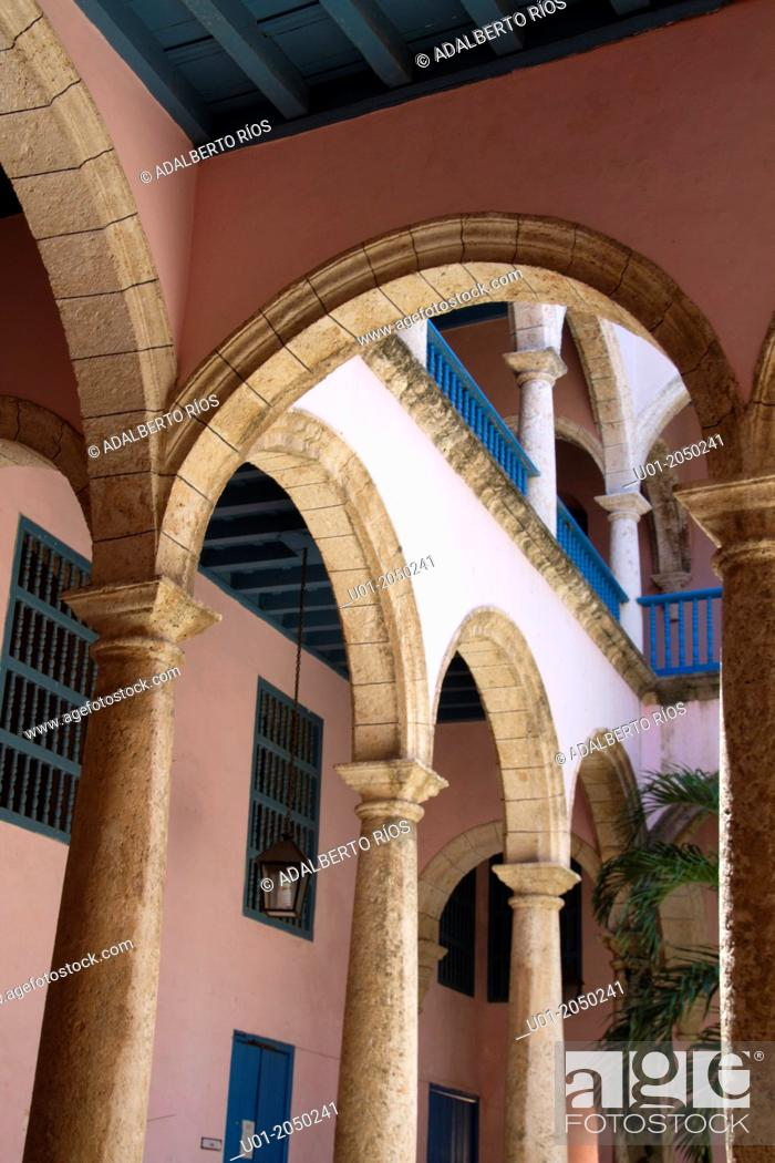 Stock Photo: Palacio de los Condes de Jaruco, Old Havana, Cuba.