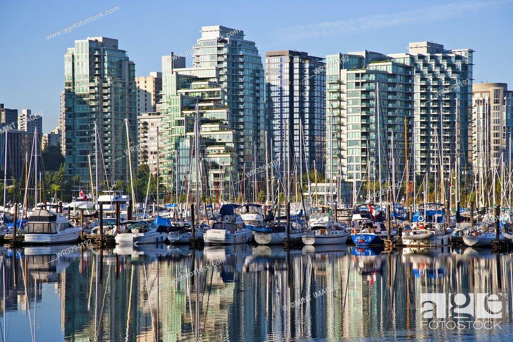 Stock Photo: Harbor View, Vancouver, British Columbia, Canada.