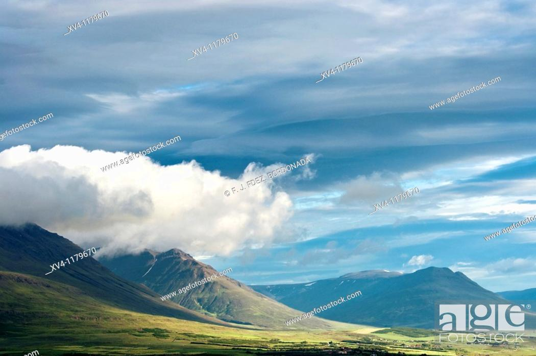 Stock Photo: Leifsstadir  Akureyri, North Iceland.