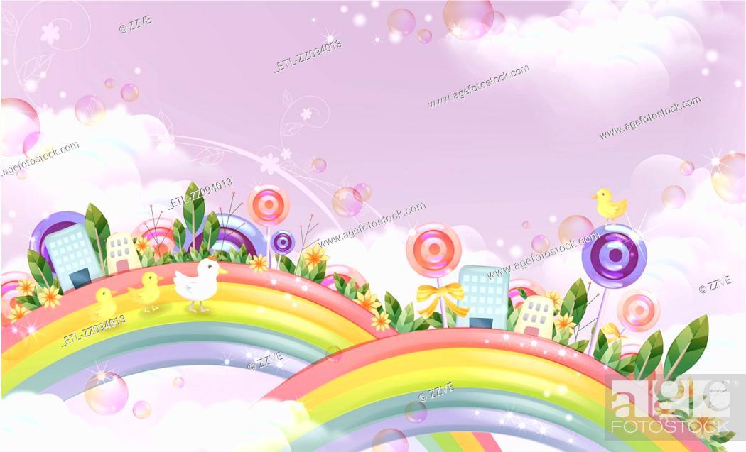 Stock Photo: Fantasy landscape.