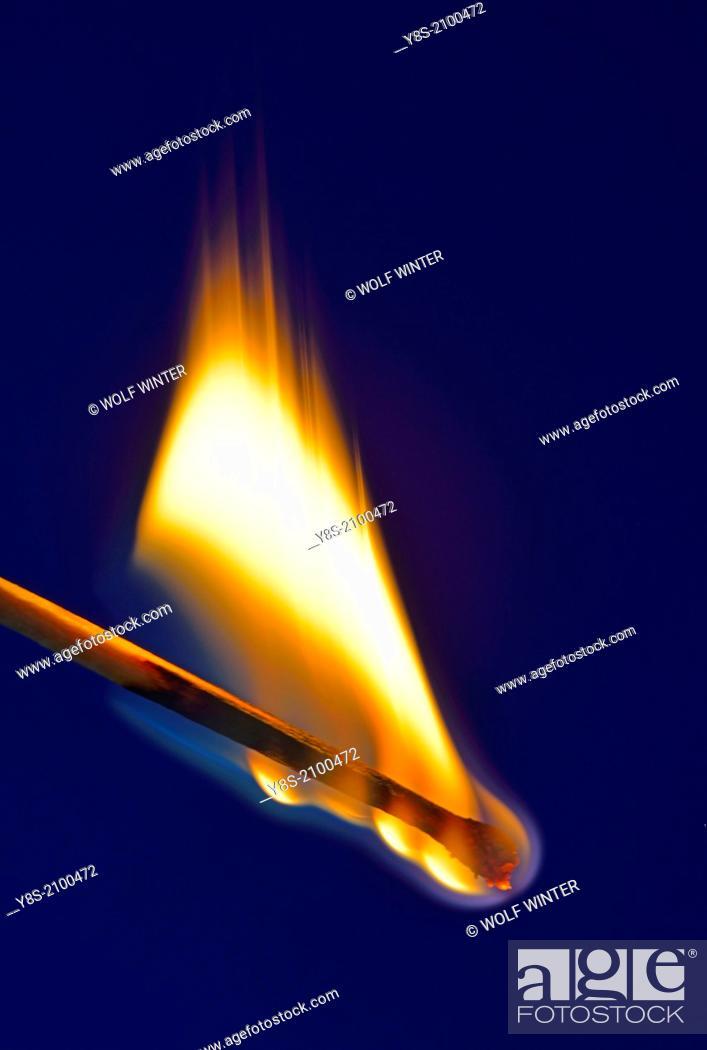 Stock Photo: Burning Match.