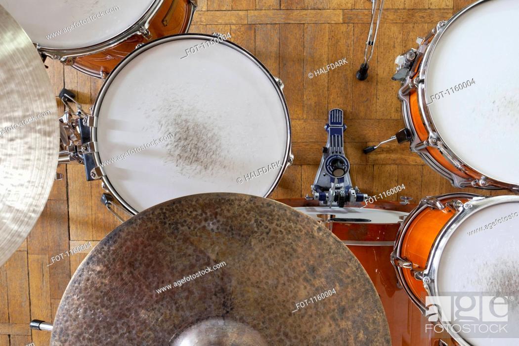 Stock Photo: Drum kit arrangement.