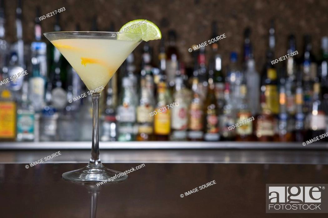 Stock Photo: Cocktail in a bar.