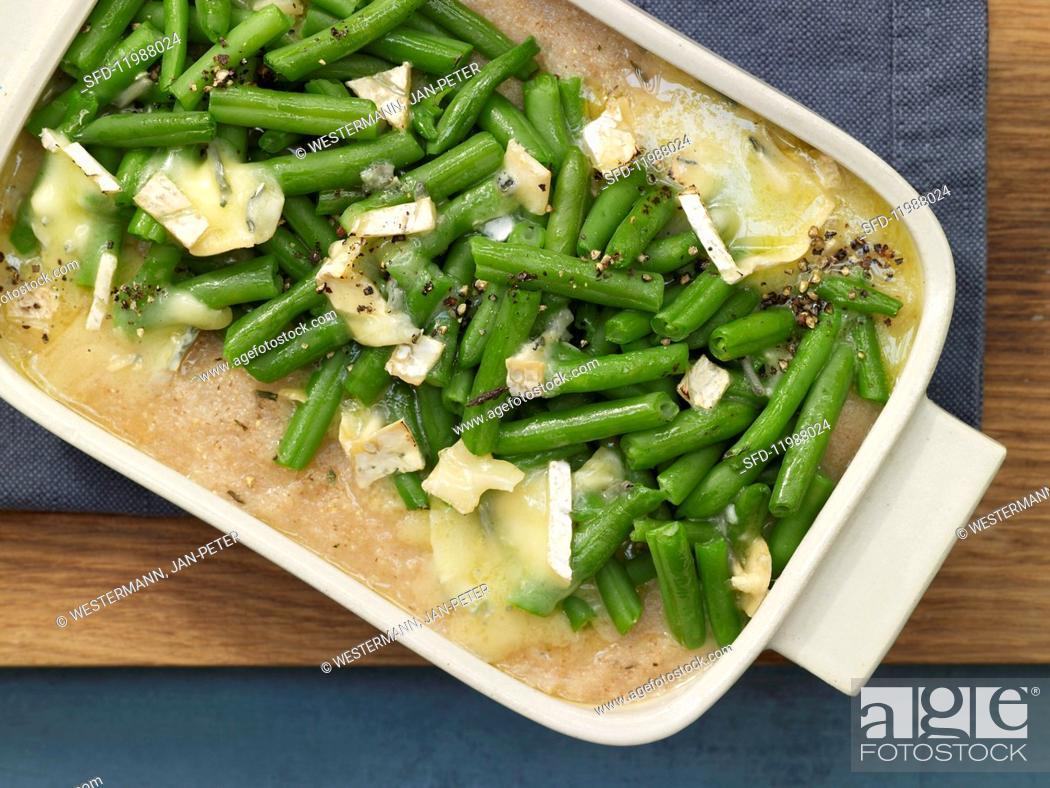 Imagen: Green bean gratin with spelt semolina.