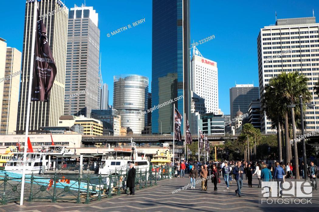 Stock Photo: Circular Quay, Sydney, Australia.