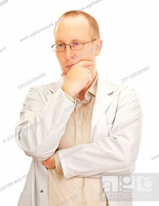 Stock Photo: Medical doctor waiting for the next patient.