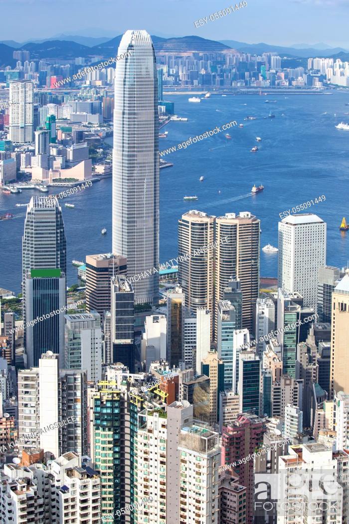 Imagen: Hong Kong Skyline from Victoria Peak.