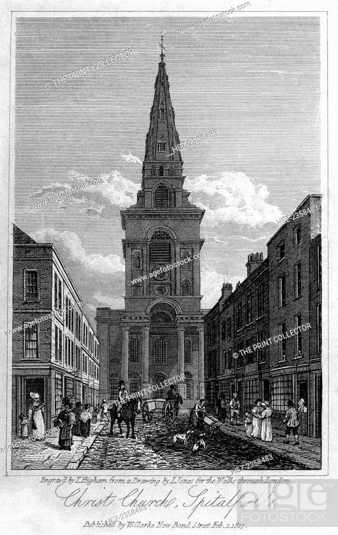 Spitalfields London: Christ Church, Spitalfields, London, 1817. Built Between