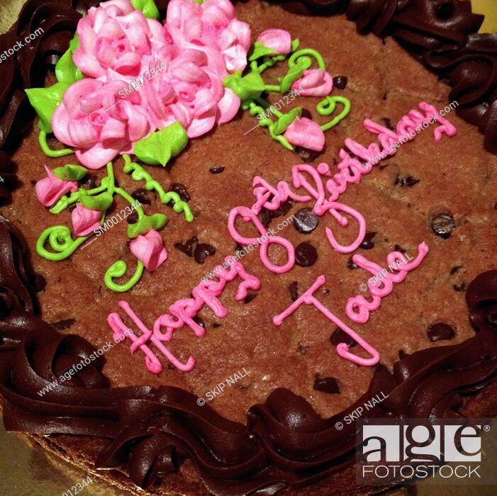 Stock Photo: A cookie birthday cake.